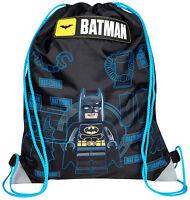 OFFICIAL BATMAN LEGO BOYS TRAINER SHOE GYM PE SPORTS KIT SWIM DRAWSTRING BAG