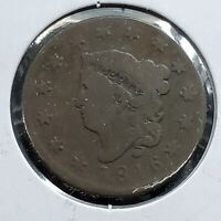 1816 Coronet Liberty Head US Large Cent 1c Choice Good Circulated Condition