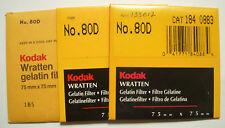 Kodak wratten GELATINA Filtro NO 80d 7.6cm OR 75mm Cuadrado
