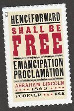 US 4721 Emancipation Proclamation forever single MNH 2013