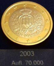 Saint Marin 1 Euro 2003 - 70 000 exemplaires provenant du coffret  BU RARE ✔