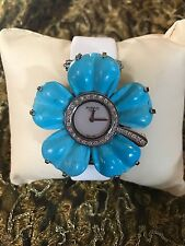 Pippo My Panse Turquoise Flower Italian Swiss Diamond Watch