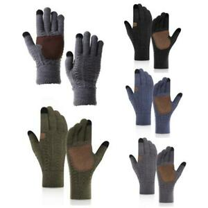 Unisex Touchscreen Winter Thermal Warm Cycling Anti-Slip Full Finger Knit Gloves