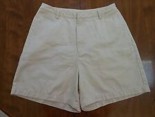 Lands' End Women's size 8 Cotton Light Khaki casual walking shorts - VGUC