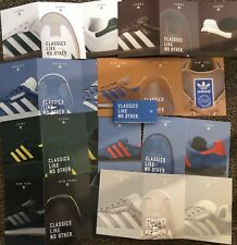18 Adidas Trainer Postcards Samba, New York, Jeans and Gazelle. Scotts Classics.