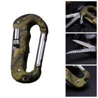 5 in 1 Multifunktionswerkzeug Karabinerhaken Cutter Gear Tool Outdoor N9K3 B9Q5