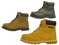 Goodyear Welted Steel-Toe Safety Work Boots |Black|Brown|Honey