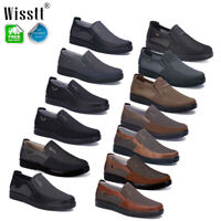 Mens Business Leather Casual Shoes Breathable Non-Slip Driving Loafers Moccasins