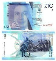 GIBRALTAR £10 Pounds (2010) P-36 AU/UNC Queen Elizabeth II Banknote Paper Money