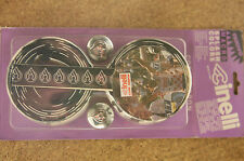 Vintage NOS NIP NEW Cinelli Black / White cork handlebar tape bartape w. plugs