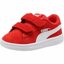 Puma Smash v2 SD V Inf Low Top Children Shoes Trainers 365178 High Risk Red