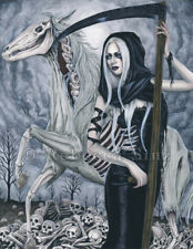 Four Horsemen Apocalypse Art MEDIUM SIZE PRINT Death Grim Reaper Scythe skulls