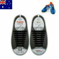 Boys Elastic Silicone Shoes Laces Lazy No Tie Shoelaces 16Pcs Sneakers Traine S2