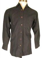 Dunhill Mens Navy Long Sleeve Cotton Shirt S Italy Made
