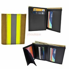 Firefighter  Wallet Bunker Turnout Gear Leather Bifold Fire Department NOMEX