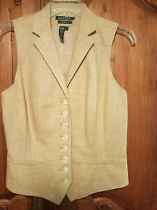 RALPH LAUREN Collection Exclusive Linen Silk Vest