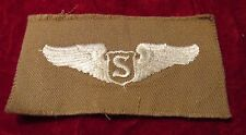 US ARMY SERVICE Pilot wing Khaki Cloth Insignia Embroidered on twill unused