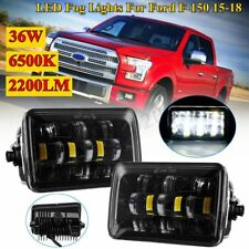 Pair Front LED Fog Light Lamps 36W 6500K 2200LM For Ford F-150 F150  2015-2018