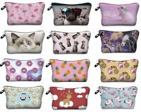 3D Cute Celeb Make Up Cosmetic Bag Pouch Purse Pencil Case Bag Travel Gift #2