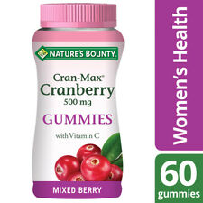 Nature's Bounty Cran-Max® Cranberry 500 mg Gummies with Vitamin C - 60 Gummies
