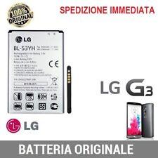 BATTERIA ORIGINALE BL-53YH LG G3 F400 D830 D850 D851 D855 3000mA ANNO 2016