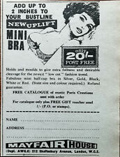 Mayfair House Uplift Mini Bra Add Up To 2 inches to Your Bustline Advert 1968