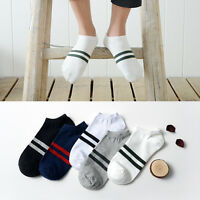 5-10 Pairs Lot Multi-Color Mens Crew Ankle Cut Peds Sport Cotton Socks Size 7-10