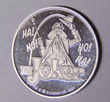 The Joker Ha Ho! .999 Fine Silver 1 oz Cartoon Celebrities 1987 Batman DC Comics