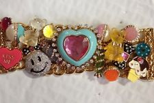 *BEST OFFER* Rare Betsey Johnson Candyland Heart Gummy Bear Smiley Bracelet