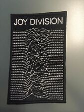 """Joy Division Patch Logo Unknown Pleasures- Embroidered Iron On Patch 3"""" x 4 1/2"""""""