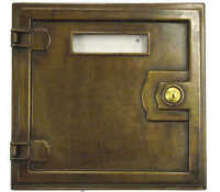 Sportellino per cassetta postale in ottone massiccio brunito da esterno