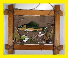 New listing Ceramic fish in oak frame