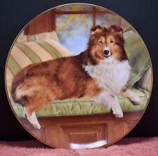 "Danbury Mint dog plate ""Luxury Seat"" Shetland Sheepdog by artist Edward Aldrich"