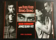 SEAN CONNERY - Kiss Kiss Bang Bang Fan Club - JAMES BOND 007 CALENDAR 1998 - NEW
