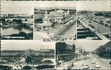 Southport, the Pier 5 views Bamforth & co Real photo 106a