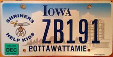 Iowa Shriners Help Kids license plate Child Shriner Children freemasonry mason