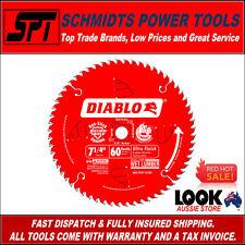 "Freud Diablo 60t 7-1/4"" 185mm Ultra Finish Circular Saw Blade D0760a Fine Timber"