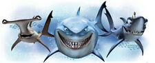 Finding Nemo Sharks wall stickers Mural Disney 1 big decal Bruce Anchor Chum
