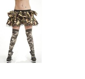 OVER THE KNEE ARMY COTTON RICH SOCKS-ONE SIZE