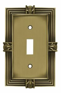 Franklin Brass 64474 Tumbled Antique Brass Pineapple Single Switch Wall Cover