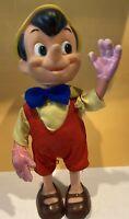 "VINTAGE Dakin Pinocchio Figure Walt Disney Productions Hong Kong Plastic Body 8"""
