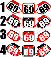 Number plates side panels graphic decals for 1991-1992 Honda CR125 CR 125