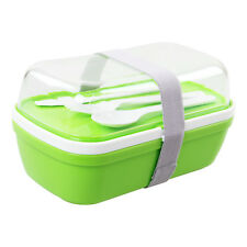 MyBento Green Nesting Double Layer Food Lunchbox Bento Box Lunch Meal Storage
