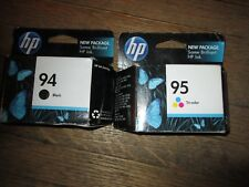 Combo! New Genuine HP 94 Black & 95 Color Ink Cartridges Sealed HP Bags