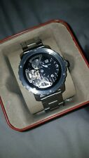 Fossil ME1132 Mens Nate Skeletal Dial Stainless Steel Automatic Watch *Mint*