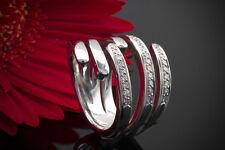 Schmuck Brillantring Ring mit Brillanten schwungvoll in 750er Weißgold 18 Karat