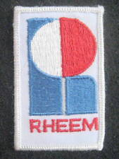 "RHEEM COMPANY EMBROIDERED SEW ON PATCH LOGO AIR CONDITIONING HEATING 2"" x 3 1/4"""