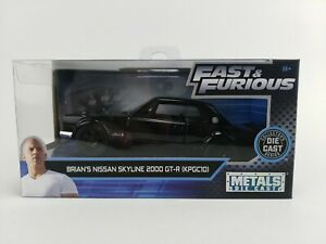 1:32 Fast and Furious Scale Brian's Nissan Skyline 2000 GT-R Metals Die Cast NIB