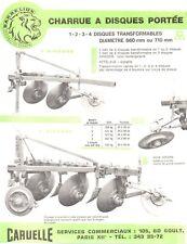 ▬►Prospectus Original BARBELION Charrue à Disques (Tracteur Massey Deutz Lanz.)