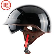 TORC Motorcycle Helmet T55 Harley Retro Half Face Inner Sun Visor L Gloss Black